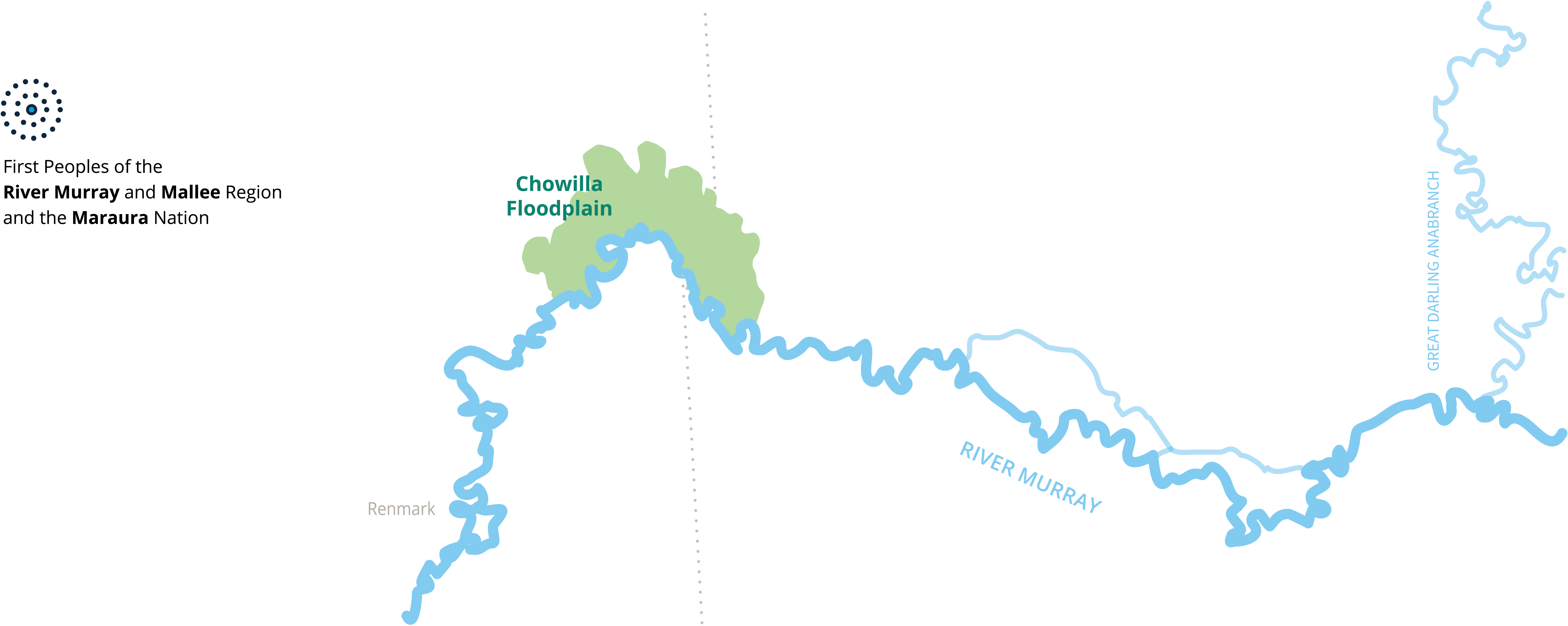a simple map of Chowilla Floodplains