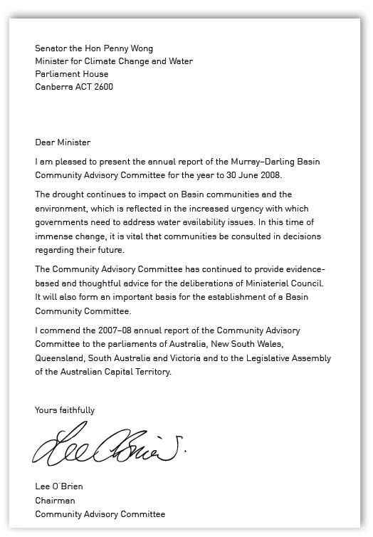 Murray Darling Basin Commission Annual Report 2007 2008