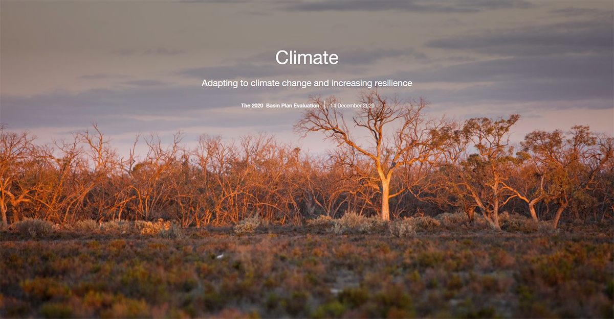 Climate StoryMap: Adapting to climate change and increasing resilience