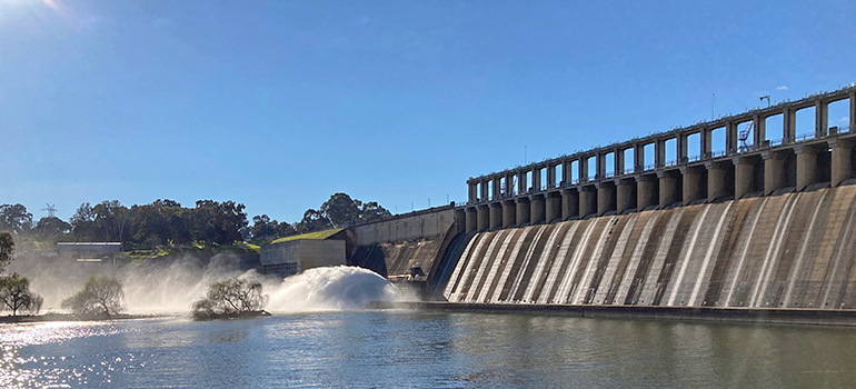Releases from Hume Dam August 2021