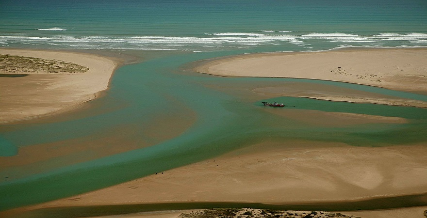 Mouth of the Murray River, South Australia.