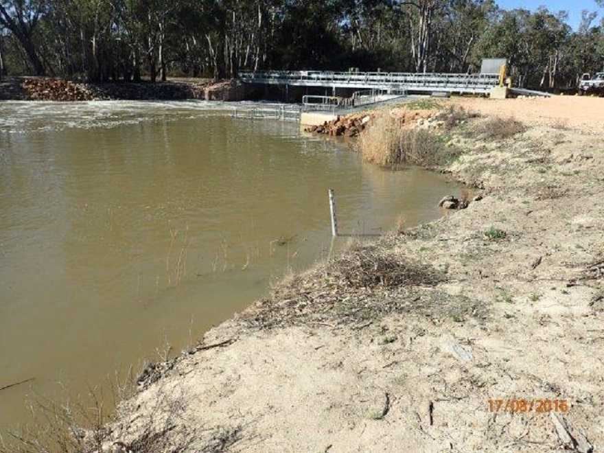 Flow downstream of pipeclay weir (source  SA Water).