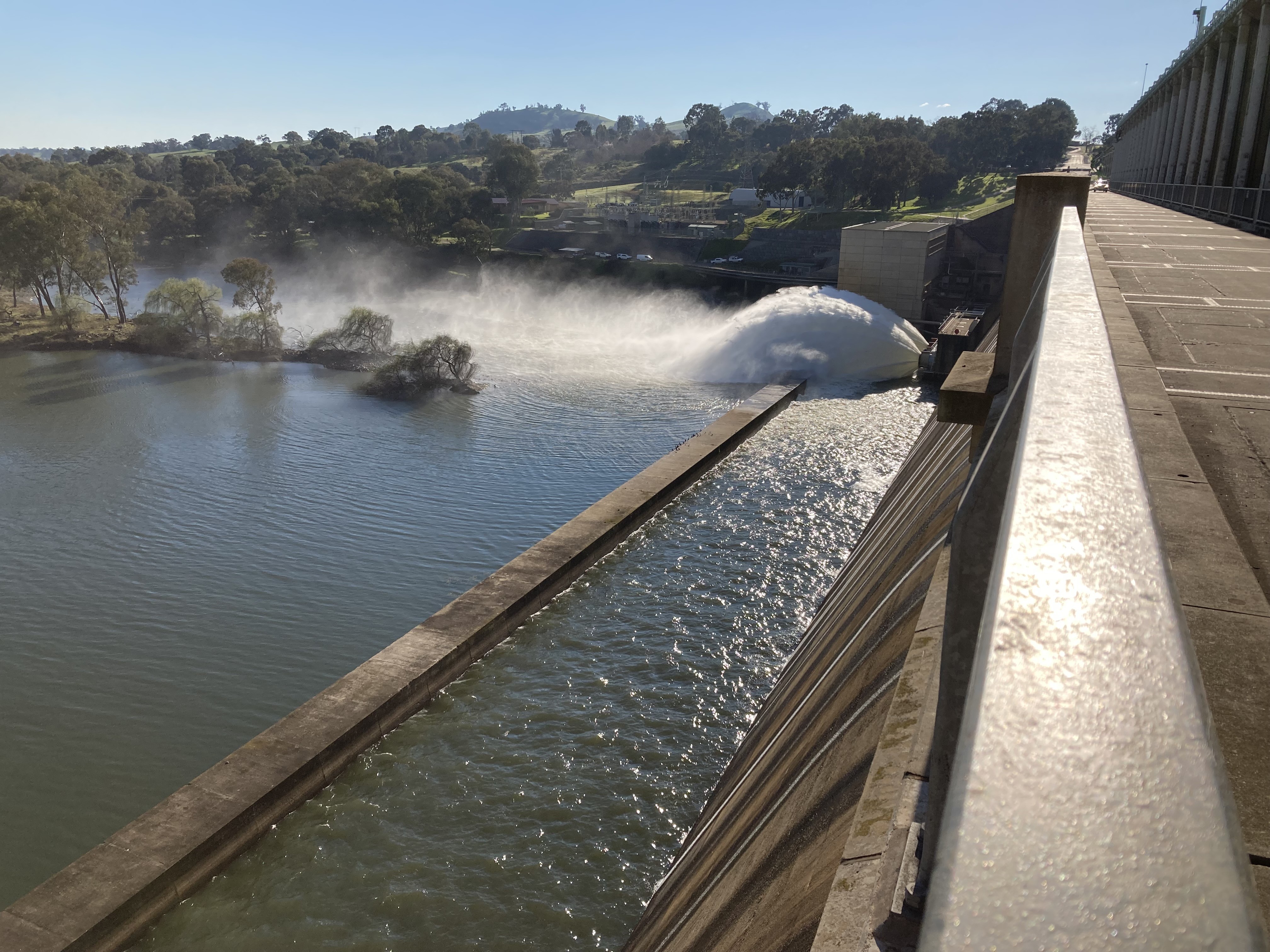 Caption: Small releases from Hume Dam have begun as dam reaches 90%.