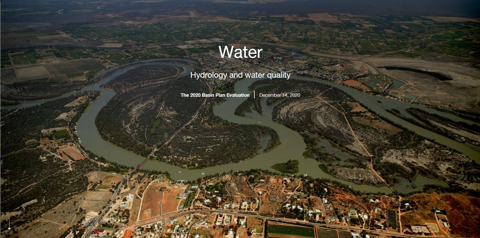 Hydrology and water quality Story Map