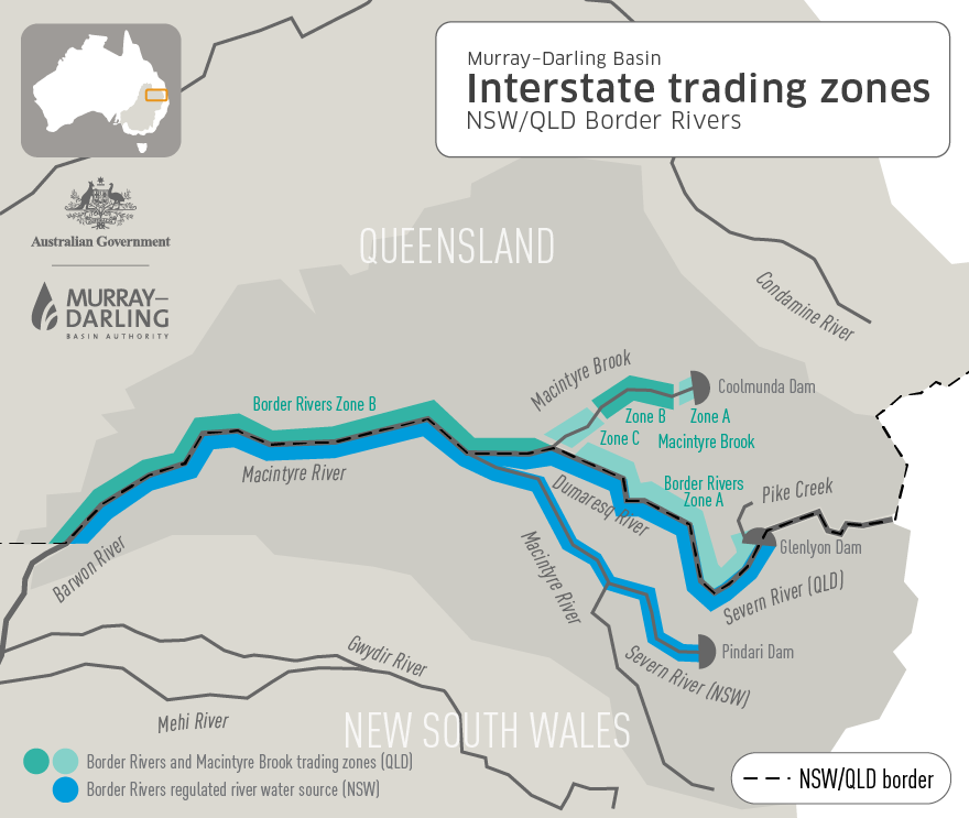 NSW-QLD Border Rivers Trading areas