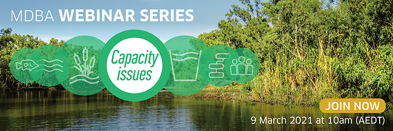 Join us for our webinar series: Capacity issues, 10am 9 March 2021
