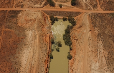 Aerial view of Cawndilla Outlet.
