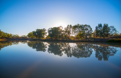 The Darling River at Bourke