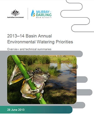 Basin annual environmental watering priorities 2013-14