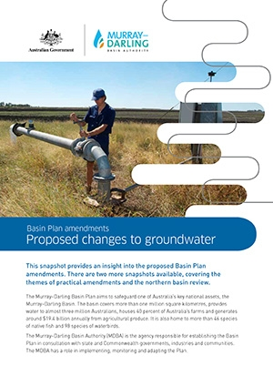 Basin Plan amendments - snapshot of groundwater changes