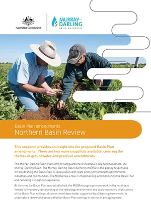 Basin Plan amendments - snapshot of northern Basin changes