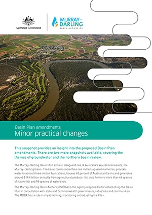 Basin Plan amendments - snapshot of practical and minor changes.
