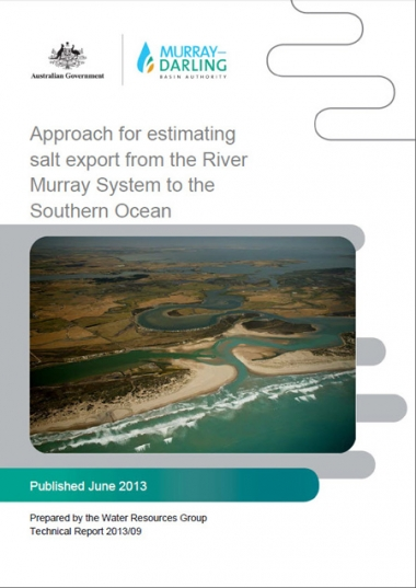 Approach for estimating salt export from the River Murray System to the Southern Ocean