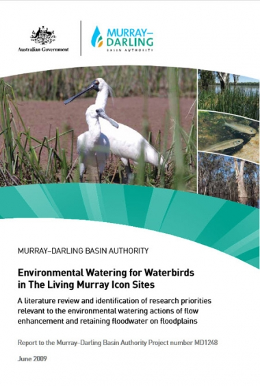 Environmental Watering for Waterbirds in The Living Murray Icon Sites