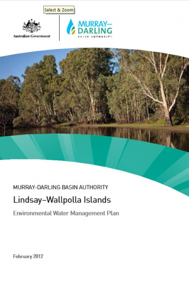 Lindsay-Wallpolla Islands Environmental Water Management Plan