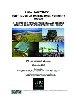 An independent review of the social and economic modelling for Northern Basin Review
