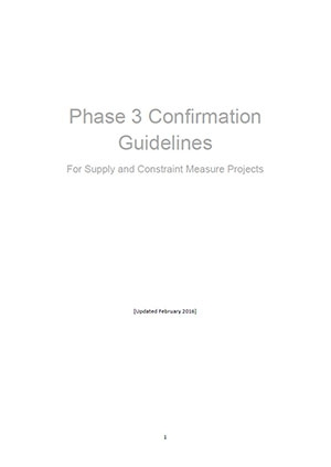 Phase 3 Assessment guidelines for supply and constraint measure business cases