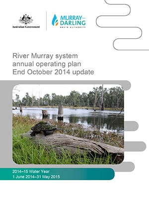 River Murray system annual operating plan - End October 2014 update