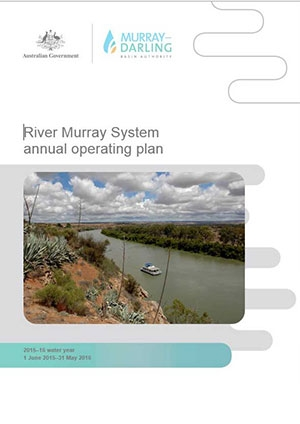 River Murray System annual operating plan 2015-16