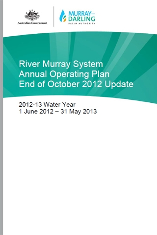 The River Murray System Annual Operating Plan for the 2012-13