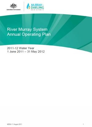 River Murray System Annual Operating Plan (Public Summary) 2010-11