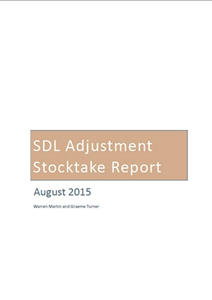 Independent stocktake of SDL adjustment measures