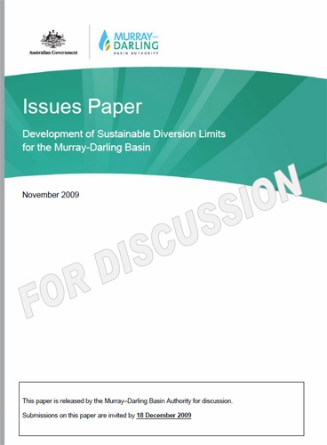 Issues Paper: Development of Sustainable Diversion Limits for the Murray-Darling Basin