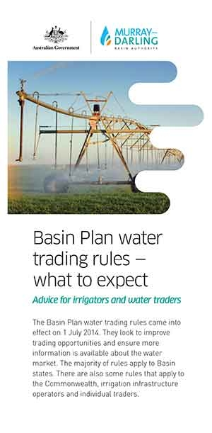 Basin Plan water trading rules - what to expect