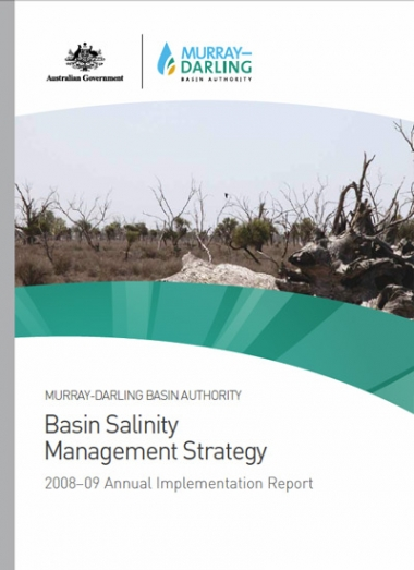 Basin Salinity Management Strategy 2008-09 Annual Implementation Report