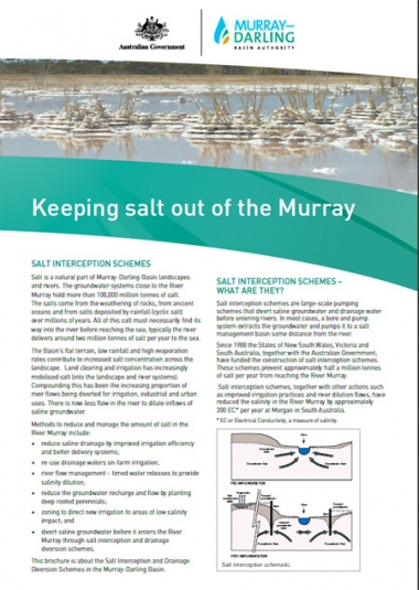 Keeping salt out of the Murray