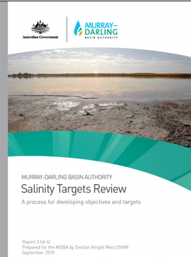 Salinity targets review: A process for developing objectives and targets