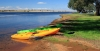 Canoes on shore of Lake Keepit. Photo by John Baker.